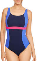Figleaves Freestyle Underwired DD Colourblock Swimsuit