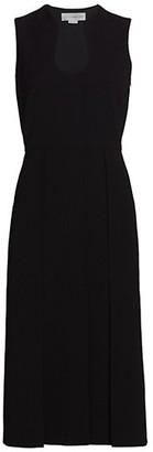 Victoria Beckham Cutout Fit-&-Flare Crepe Dress
