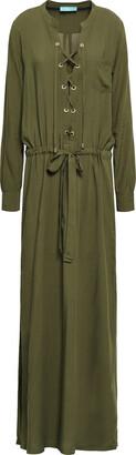 Melissa Odabash Meghan Lace-up Gauze Maxi Dress