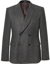 Alexander McQueen Grey Prince Of Wales Check Wool-flannel Double-breasted Blazer - Gray