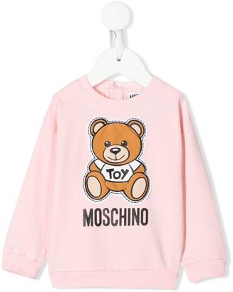 MOSCHINO BAMBINO Teddy Bear logo-print sweatshirt
