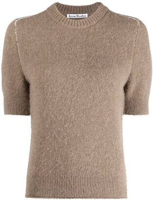 Acne Studios Short-Sleeve Knitted Top
