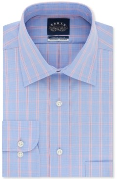 Eagle Men's Classic-Fit Flex Collar Check Dress Shirt