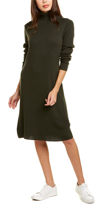Eileen Fisher Turtleneck Wool Sweaterdress