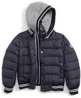 Moncler Boy's Auberie Hooded Water Resistant Down Varsity Jacket