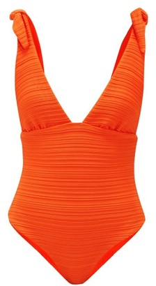 Mara Hoffman Daphne Tie-shoulder Swimsuit - Womens - Orange