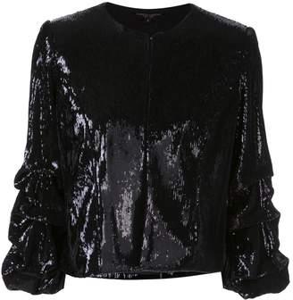 Alberto Makali sequinned cropped jacket