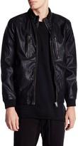 Lindbergh Faux Leather Bomber Jacket
