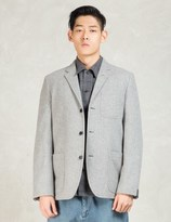 N.Hoolywood Grey Single Breast 3 Button Blazer