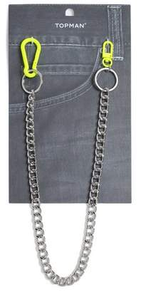 Topman Mens Yellow Neon Wallet Chain*