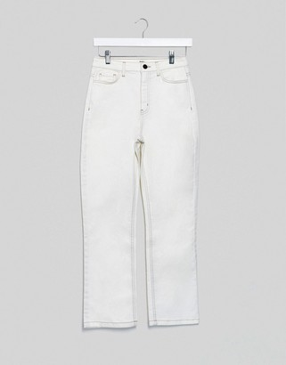 Object straight leg jeans in white