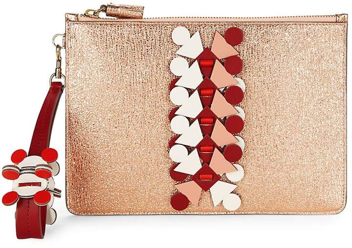 Anya Hindmarch Women's Embellished Metallic Pouch
