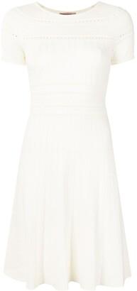 Twin-Set Punch-Hole Detail Dress