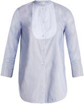 Helmut Lang Ottoman-striped cotton tuxedo shirt