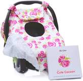 Sho Cute - [Reversible] All-Season Carseat Canopy | Pink & Grey Floral Car Seat Covers for Girls | """