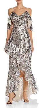 Laundry by Shelli Segal High/Low Sequin Gown- 100% Exclusive