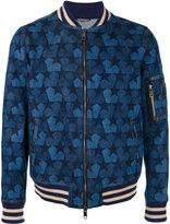 Ports 1961 star denim bomber jacket