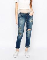 Dittos Ditto's Alec Skinny Boyfriend Jeans in Vintage Rip 'n' Repair