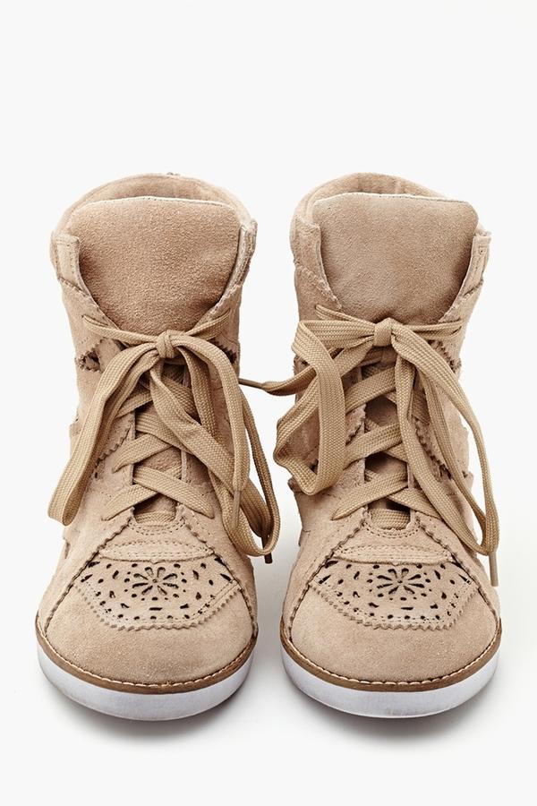 Nasty Gal Venice Wedge Sneaker - Tan