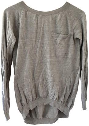 Louis Vuitton Grey Silk Knitwear