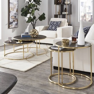 Dupont Everly Quinn 2 Piece Coffee Table Set Everly Quinn