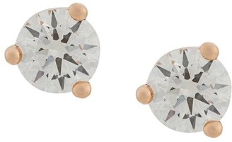 Delfina Delettrez 18kt rose gold Dots Solitare round diamond stud earrings