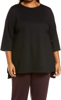 Eileen Fisher Ponte Knit Tunic Top