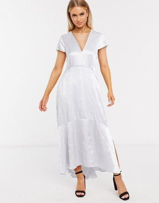 InWear Rosemary bias cut midi dress in blue