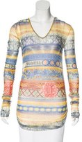 Jean Paul Gaultier Soleil Mesh Abstract Print Top
