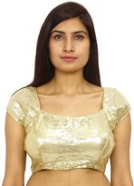 Swara Ready - Made Stitched Sari Blouse Densely Sequin Saree Choli Party Wear