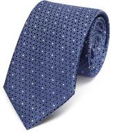 Charles Tyrwhitt Blue silk classic geometric lattice tie
