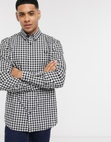Fred Perry gingham check shirt in black and white