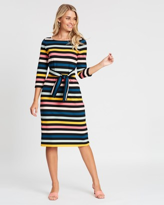 Review Cavello Stripe Ponte Dress