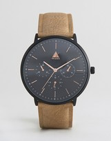 Asos Watch With Light Tan Strap