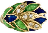 Ring 14K Diamond & Enamel