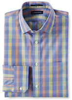 Classic Men's End on End Tailored Shirt-Sail Blue Multi Plaid