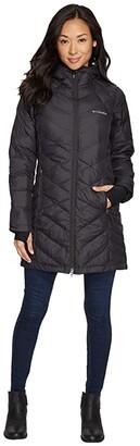 Columbia Heavenly Long Hooded Jacket (Black) Women's Coat