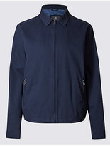 M&S Collection Pure Cotton Jacket with StormwearTM