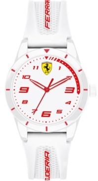 Ferrari Kid's Red Rev White Silicone Strap Watch 34mm