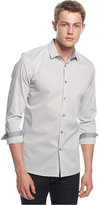 Alfani Slim-Fit Long-Sleeve Stretch Check Shirt