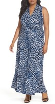 Vince Camuto Plus Size Women's Leopard Song Maxi Dress