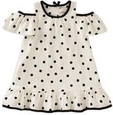Kate Spade Girls' Cold-Shoulder Polka-Dotted Dress