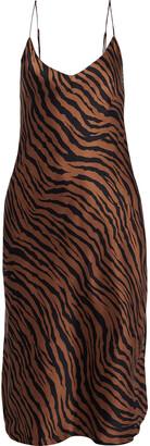 Nili Lotan Short Cami Printed Silk-charmeuse Slip Dress