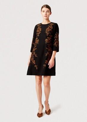Hobbs Lynn Embroidered Floral Dress