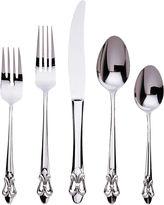 Gingko International Fleur De Lis 20-pc. 18/10 Stainless Steel Flatware Set