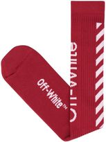 Off-White Diagonals Cotton Socks