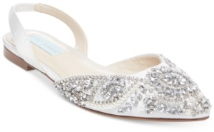 Betsey Johnson Molly Sling Back Flat Women's Shoes