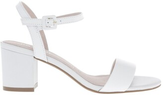 Basque Roma White Leather Sandal