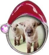 GiftJewelryShop Baby Lambs Light Amethyst Crystal June Birthstone Red Santa Hat Charm Beads Bracelets