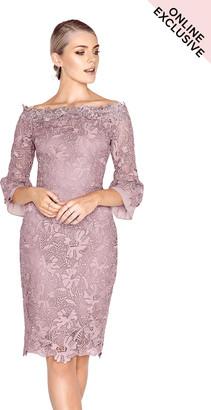 Paper Dolls Orsay Crochet Bardot Dress